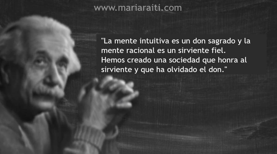 la mente intuitiva einstein